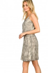 Aaiko |  Print dress Bryson | black & white  | Picture 5