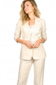Aaiko |  Belted blazer Linna | beige  | Picture 4
