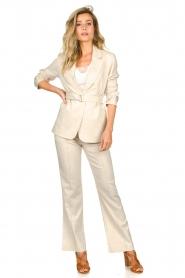 Aaiko |  Belted blazer Linna | beige  | Picture 3