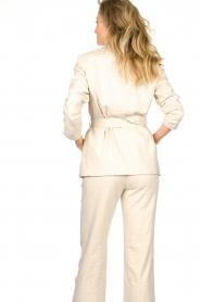 Aaiko |  Belted blazer Linna | beige  | Picture 7