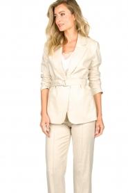 Aaiko |  Belted blazer Linna | beige  | Picture 5