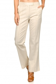 Aaiko |  Straight trousers Lanella | natural  | Picture 4