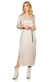 Aaiko |  Maxi dress with print Seleni| white  | Picture 2
