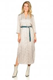 Aaiko |  Maxi dress with print Seleni| white  | Picture 4