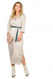 Aaiko |  Maxi dress with print Seleni| white  | Picture 3