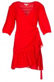 Silvian Heach |  Wrap dress Pumalanga | red  | Picture 1
