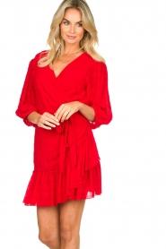 Silvian Heach |  Wrap dress Pumalanga | red  | Picture 4