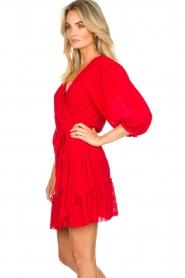 Silvian Heach |  Wrap dress Pumalanga | red  | Picture 5