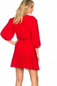 Silvian Heach |  Wrap dress Pumalanga | red  | Picture 7