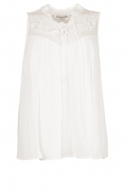 Silvian Heach |  Sleeveless top with lace Krasnodar | white  | Picture 1