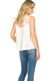 Silvian Heach |  Sleeveless top with lace Krasnodar | white  | Picture 8