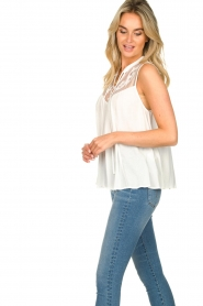 Silvian Heach |  Sleeveless top with lace Krasnodar | white  | Picture 7