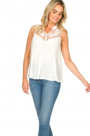Silvian Heach |  Sleeveless top with lace Krasnodar | white  | Picture 5