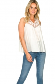 Silvian Heach |  Sleeveless top with lace Krasnodar | white  | Picture 4