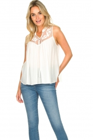 Silvian Heach |  Sleeveless top with lace Krasnodar | white  | Picture 6