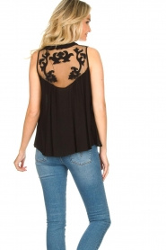 Silvian Heach |  Sleeveless top with lace Krasnodar | black  | Picture 5