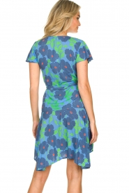 Genesis |  Floral wrap dress Aiko | blue  | Picture 6