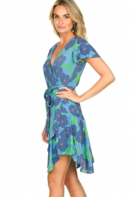 Genesis |  Floral wrap dress Aiko | blue  | Picture 5