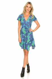 Genesis |  Floral wrap dress Aiko | blue  | Picture 3