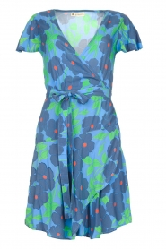Genesis |  Floral wrap dress Aiko | blue  | Picture 1