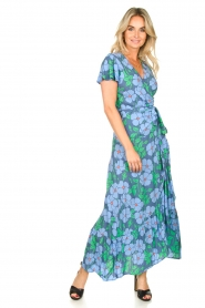 Genesis |  Floral maxi dress Aiko | blue  | Picture 3