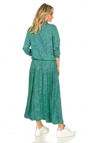 Genesis :  Printed maxi dress Daiki | blue - img6