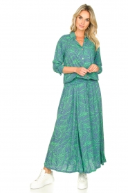 Genesis :  Printed maxi dress Daiki | blue - img3