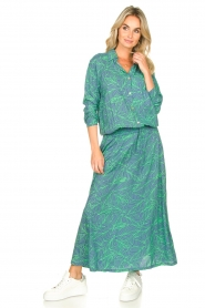 Genesis :  Printed maxi dress Daiki | blue - img4