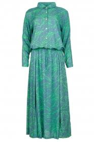 Genesis |  Printed maxi dress Daiki | blue  | Picture 1