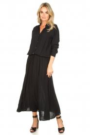 Genesis | Maxi-jurk Daik | zwart  | Afbeelding 3