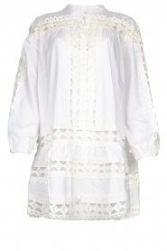 Devotion |  Cotton dress with embroidery details Christina | white  | Picture 1