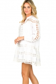 Devotion |  Cotton dress with embroidery details Christina | white  | Picture 5