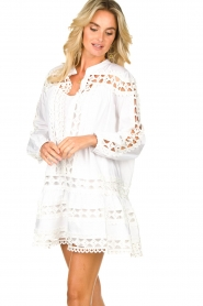 Devotion |  Cotton dress with embroidery details Christina | white  | Picture 2