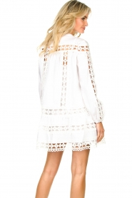 Devotion |  Cotton dress with embroidery details Christina | white  | Picture 6
