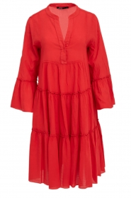 Devotion |  Cotton dress Rosaline | red  | Picture 1