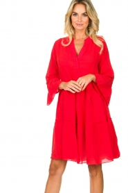 Devotion |  Cotton dress Rosaline | red  | Picture 2