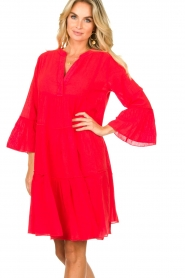 Devotion |  Cotton dress Rosaline | red  | Picture 6