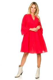 Devotion |  Cotton dress Rosaline | red  | Picture 3