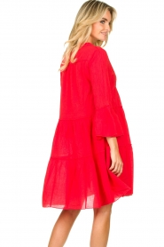 Devotion |  Cotton dress Rosaline | red  | Picture 8