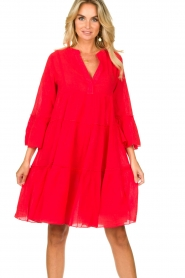 Devotion |  Cotton dress Rosaline | red  | Picture 4