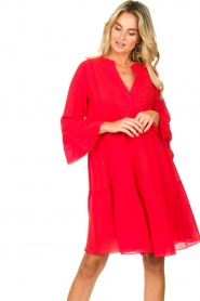 Devotion |  Cotton dress Rosaline | red  | Picture 5