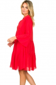 Devotion |  Cotton dress Rosaline | red  | Picture 7