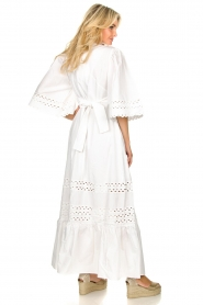 Antik Batik |  Popline maxi dress Malia | white  | Picture 6