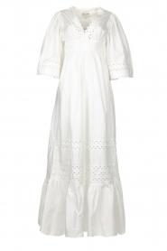 Antik Batik |  Popline maxi dress Malia | white  | Picture 1