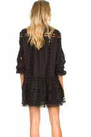 Devotion |  Cotton dress with embroidery details Christina | black  | Picture 7