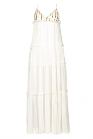 Sundress |  Maxi dress with sequins Ulla | white  | Picture 1
