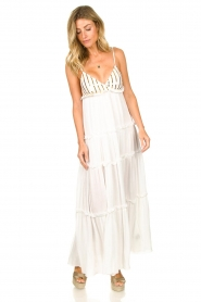 Sundress |  Maxi dress with sequins Ulla | white  | Picture 4