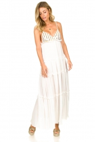 Sundress |  Maxi dress with sequins Ulla | white  | Picture 2