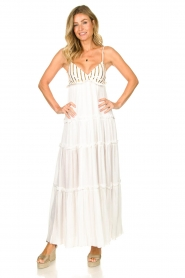 Sundress |  Maxi dress with sequins Ulla | white  | Picture 3