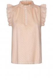 Sofie Schnoor |  Lurex top with ruffles Gritt | pink  | Picture 1